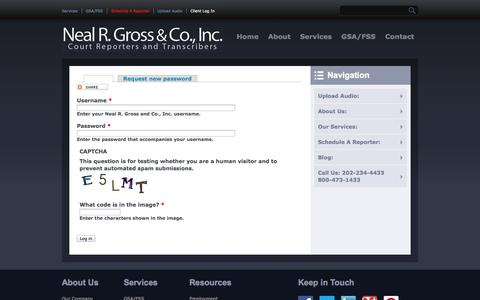 Screenshot of Login Page nealrgross.com - My Account: | Neal R. Gross and Co., Inc. - captured Oct. 7, 2014