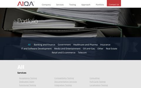 Screenshot of Case Studies Page a1qa.com - Portfolio | Software Testing Company A1QA - captured Sept. 19, 2018