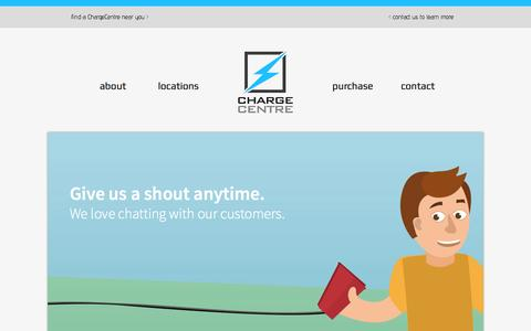 Screenshot of Contact Page chargecentre.ca - ChargeCentre | Contact - captured Oct. 1, 2014