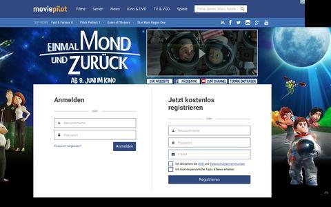 Screenshot of Signup Page moviepilot.de - Kostenlos anmelden | Mitglied werden | moviepilot.de - captured June 6, 2016