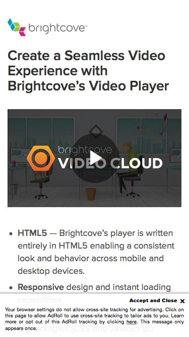 Brightcove | Create a Seamless Video Experience with Brightcove's Video Player
