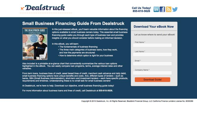 Small Business Financing Guide – Essential eBook from The Experts | Dealstruck
