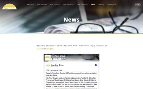 Screenshot of Press Page interflour.com - News - captured Sept. 26, 2018
