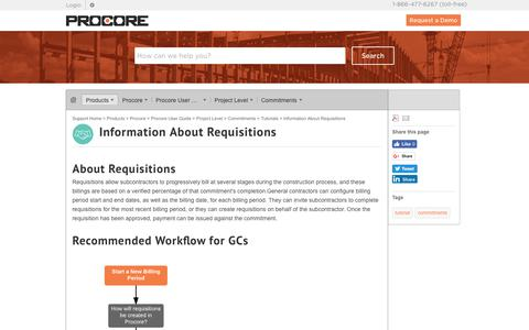 Information About Requisitions - Procore