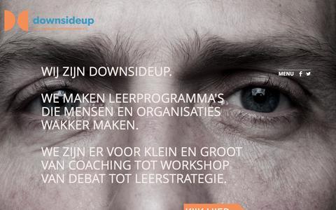 Screenshot of Home Page downsideup.nl - downsideup - captured Sept. 30, 2014