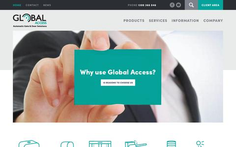Screenshot of Home Page global-access.com.au - Global Access Automation Technologies | FAAC Victoria… – Global Access - captured Nov. 20, 2017