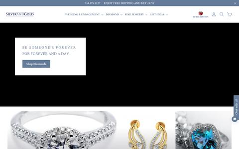 Screenshot of Home Page silverandgold.com - Silver And Gold – SilverAndGold.com - captured Oct. 19, 2018