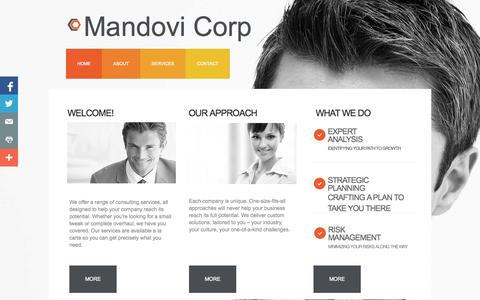 Screenshot of About Page mandovi.us - About - captured Oct. 4, 2014