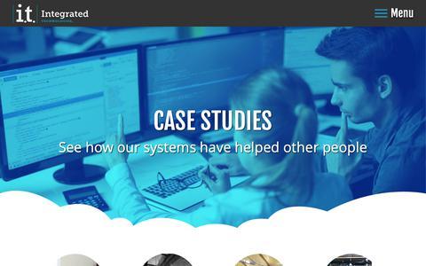 Screenshot of Case Studies Page itechinc.com - Case Studies - Integrated Technologies - captured Oct. 1, 2018