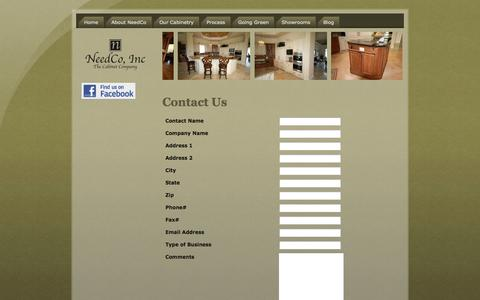 Screenshot of Contact Page needco.net - Contact Us - captured Oct. 26, 2014
