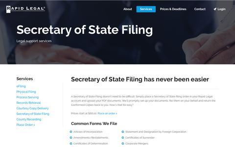 California Secretary of State Filing - Rapid Legal