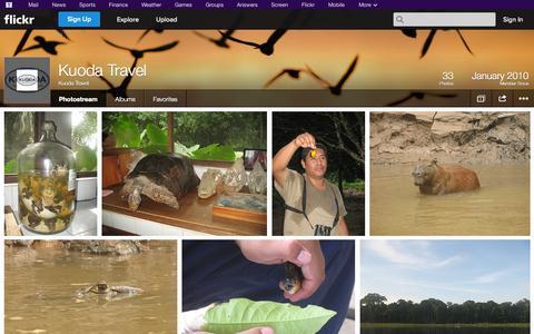Screenshot of Flickr Page flickr.com - Flickr: Kuoda Travel's Photostream - captured Oct. 23, 2014