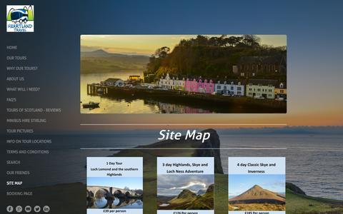 Screenshot of Site Map Page heartlandtravel.co.uk - Info on tour locations  - Heartland Travel - captured Dec. 9, 2015