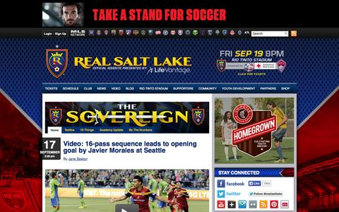 Screenshot of Blog realsaltlake.com - Blog | Real Salt Lake - captured Sept. 18, 2014
