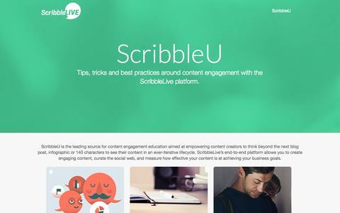 Screenshot of Support Page scribblelive.com - ScribbleU - captured Oct. 10, 2014