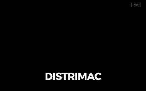 Screenshot of Home Page distrimac.com.ec - Highpeak - INICIO - captured June 4, 2017