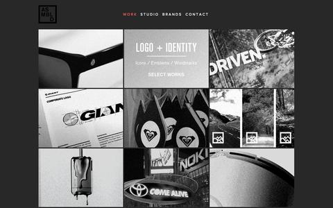 Screenshot of Home Page assembledinc.com - ASSEMBLED | Brand Identity and Marketing Design Office - captured Oct. 4, 2014