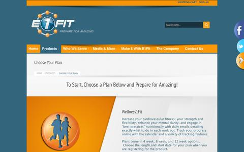 Screenshot of Products Page e1fit.com - Choose Your Sports Training Programs | Every1Fit - captured Sept. 26, 2014