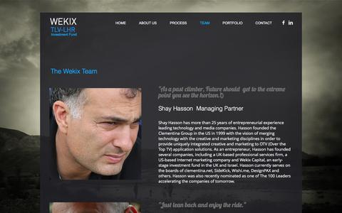 Screenshot of Team Page wekix.com - wekix | TEAM - captured Nov. 29, 2016