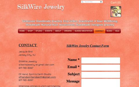 Screenshot of Contact Page silkwirejewelry.com - Contact SilkWire Jewelry - captured July 27, 2018