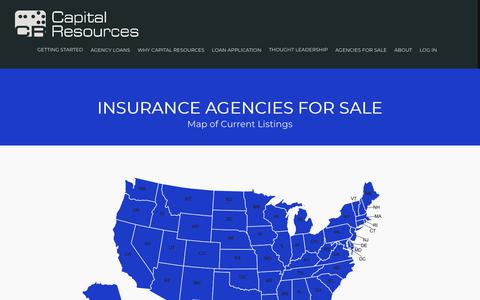 Screenshot of Maps & Directions Page capitalresources.com - Insurance Agencies for Sale | Capital Resources - captured Sept. 26, 2018