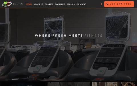 Screenshot of Home Page bookingnest.com - Home - Fresh Start Fitness - captured Nov. 1, 2017