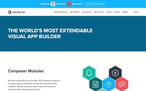 Screenshot of Developers Page appgyver.com - AppGyver: Low-Code Enterprise-Grade App Creation - captured Aug. 25, 2018