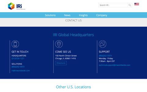 Screenshot of Contact Page iriworldwide.com - Contact Us- IRI - captured April 7, 2019