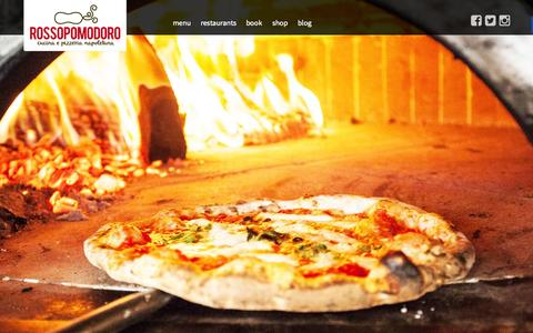 Screenshot of Home Page rossopomodoro.co.uk - ROSSOPOMODORO - The best pizza this side of Naples ROSSOPOMODORO - captured Jan. 26, 2015