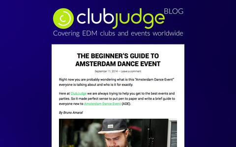 Screenshot of Blog clubjudge.com - Club Judge - Covering EDM clubs and events worldwide - captured Sept. 19, 2014