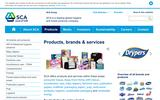 New Screenshot SCA Americas Products Page