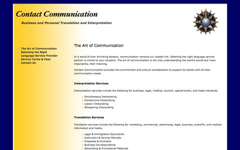 Screenshot of Home Page contact-communications.com - Contact Communication - Translation & Interpreting Service in Orange County, California - - captured Oct. 11, 2015