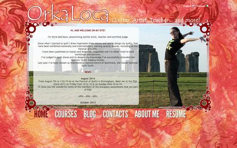 Screenshot of Home Page orkaloca.com - OrkaLoca di Silvia Dell'Aere | Home - captured Oct. 6, 2014