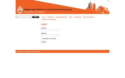 Screenshot of Login Page rpcaa.nl - RPCAA - contact - captured Oct. 26, 2014