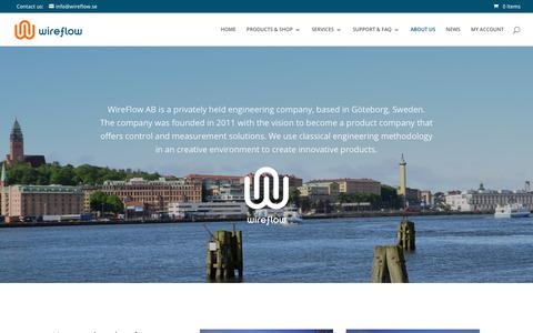 Screenshot of Contact Page wireflow.se - ABOUT US - WireFlow - captured Oct. 20, 2018