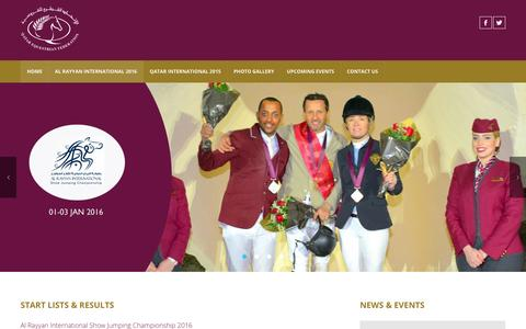 Screenshot of Home Page qefed.com - AL RAYYAN INTERNATIONAL 2016 - captured Jan. 26, 2016