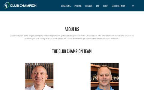 Screenshot of About Page clubchampiongolf.com - Club Champion Team - captured Jan. 12, 2020
