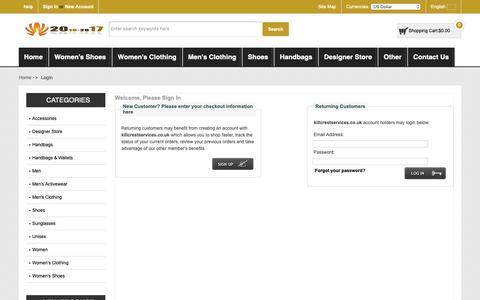 Screenshot of Login Page killcrestservices.co.uk - Login : Online Sales Men Salvatore Ferragamo 'Trekking' Sneakers - captured Oct. 15, 2018