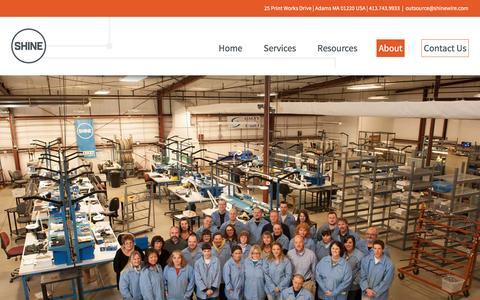 Screenshot of Team Page shinewire.com - Team | Electronic Contract Manufacturer | SHINE Wire - captured Dec. 11, 2016