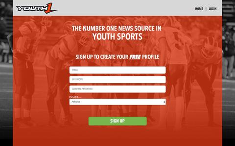 Screenshot of Signup Page youth1.com - Create a Youth1 profile and get noticed   Youth1 - captured Nov. 18, 2016