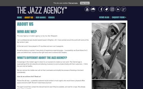 Screenshot of About Page thejazzagency.co.uk - About Us The Jazz Agency - captured Sept. 21, 2018