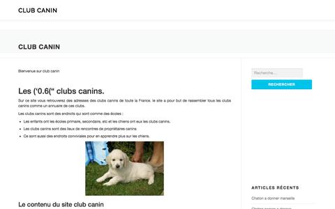 Screenshot of Home Page club-canin.fr - Club canin - club canin - captured June 27, 2019