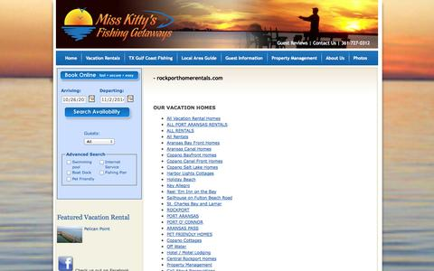 Screenshot of Site Map Page rockporthomerentals.com - Rockport TX Vacation Rentals | Miss Kittys Fishing Getaways | Property Management - captured Oct. 26, 2014