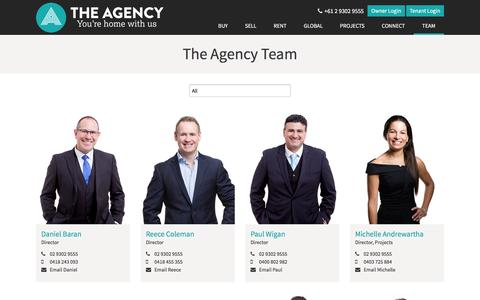 Screenshot of Team Page theagencyco.com - Selling Sales Agents Edgecliff Paddington | The Agency - captured Dec. 22, 2016