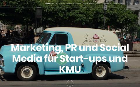Screenshot of Home Page webpixelkonsum.de - Marketing, PR und Social Media: Von Start-ups bis KMU für mehr Kunden - captured Sept. 23, 2018