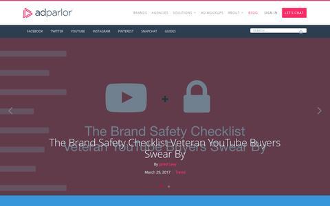 Screenshot of Blog adparlor.com - Blog | AdParlor - captured April 11, 2017