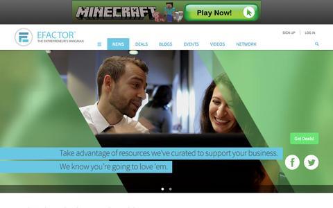Screenshot of Press Page efactor.com - Entrepreneur Inspiration, Startup Inspiration, Startup Growth   EFactor - captured Sept. 18, 2014