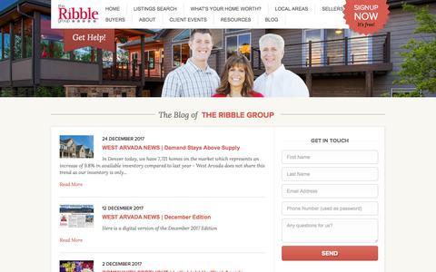 Screenshot of Blog theribblegroup.com - The Ribble Group l Wheatridge Colorado - captured Jan. 27, 2018