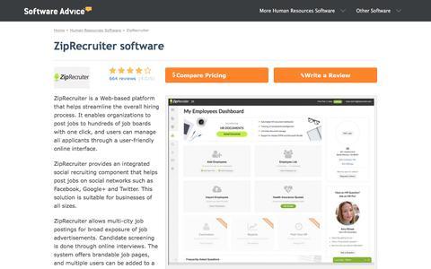 ZipRecruiter Software - 2018 Reviews, Pricing & Demo