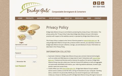 Screenshot of Privacy Page bridge-gate.com - Privacy Policy | Bridge-Gate Alliance Group - captured Feb. 8, 2016